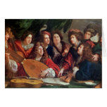 The Musical Society, 1688 Greeting Card