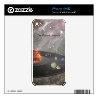 The Musical Universe Decal For iPhone 4