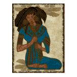 The Musician Egyptian Folk Art Post Card