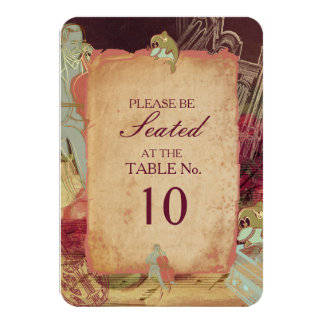 The Musician - Table Number Card / Invite
