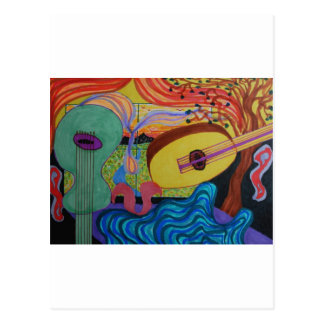 The musician's room postcard