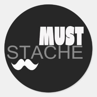 The Mustache Imperative (s1) Classic Round Sticker