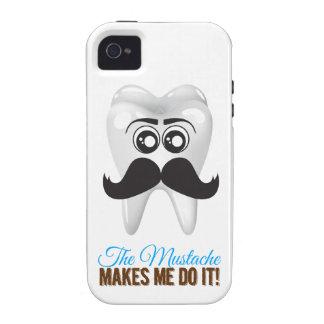 The mustache make me do it vibe iPhone 4 funda