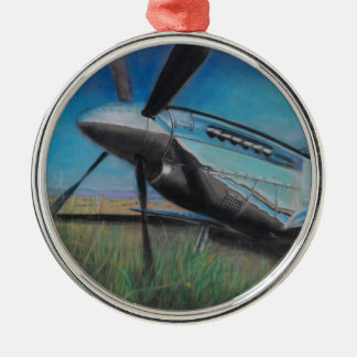The Mustang Round Metal Christmas Ornament