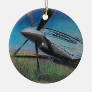 The Mustang Double-Sided Ceramic Round Christmas Ornament