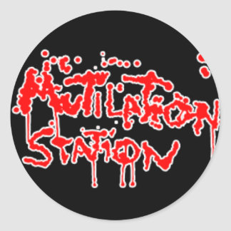 The Mutilation Station Classic Round Sticker