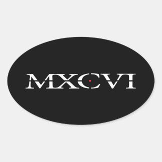 The MXCVI Stickers Black - Oval
