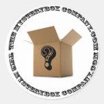 The Mystery Box Company round Sticker
