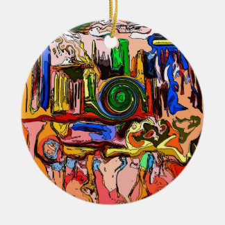 """""""The Mystery Machine"""" Circle Ornament"""