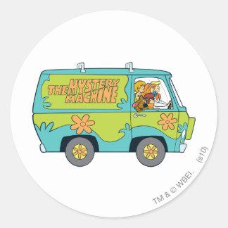 The Mystery Machine Shot 13 Classic Round Sticker