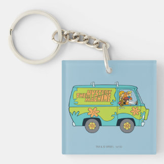 The Mystery Machine Shot 13 Double-Sided Square Acrylic Keychain
