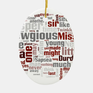 The Mystery of Edwin Drood Double-Sided Oval Ceramic Christmas Ornament