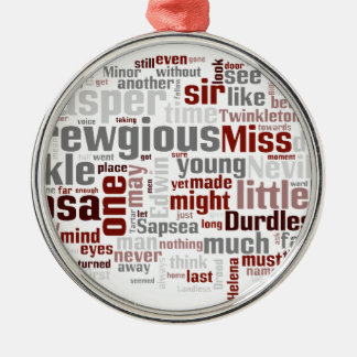 The Mystery of Edwin Drood Round Metal Christmas Ornament