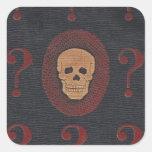 The Mystery Skull Square Sticker