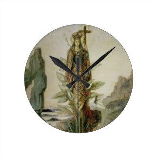 The Mystic Flower Round Clock