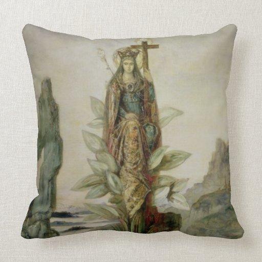 The Mystic Flower Throw Pillows