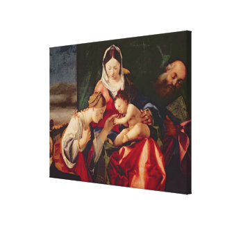The Mystic Marriage of Saint Catherine, 1505/8 Stretched Canvas Print