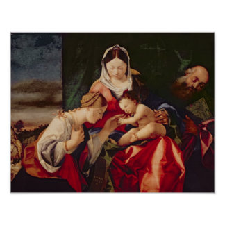 The Mystic Marriage of Saint Catherine, 1505/8 Poster