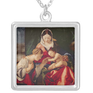 The Mystic Marriage of Saint Catherine, 1505/8 Silver Plated Necklace