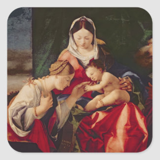 The Mystic Marriage of Saint Catherine, 1505/8 Square Sticker