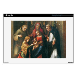 """The Mystic Marriage of Saint Catherine 15"""" Laptop Skins"""