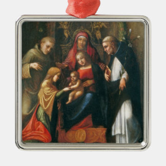 The Mystic Marriage of Saint Catherine Metal Ornament