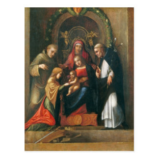The Mystic Marriage of Saint Catherine Postcard