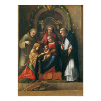 The Mystic Marriage of Saint Catherine Poster