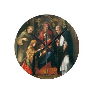 The Mystic Marriage of Saint Catherine Round Clock