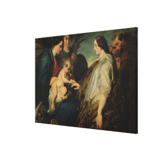 The Mystic Marriage of St. Catherine, 1618/20 (oil Canvas Print