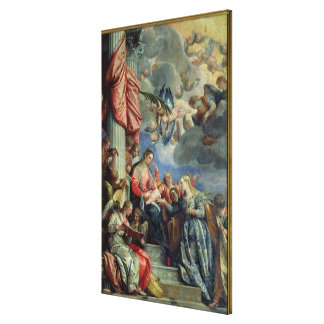 The Mystic Marriage of St. Catherine Stretched Canvas Print