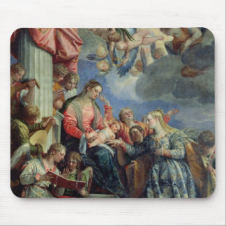 The Mystic Marriage of St. Catherine Mousepads