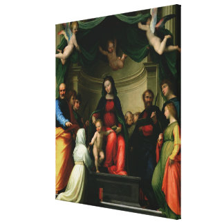 The Mystic Marriage of St. Catherine of Siena with Canvas Print
