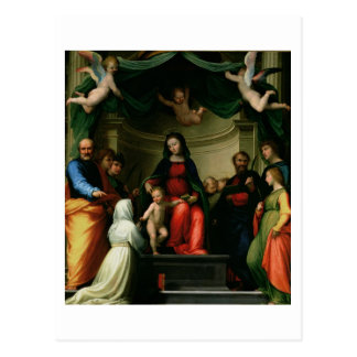 The Mystic Marriage of St. Catherine of Siena with Postcard