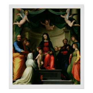 The Mystic Marriage of St. Catherine of Siena with Poster