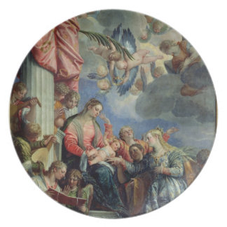 The Mystic Marriage of St. Catherine Plates