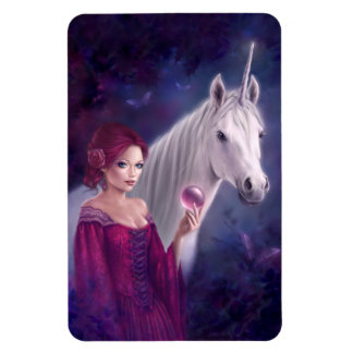 The Mystic Unicorn Art Flexible Magnet