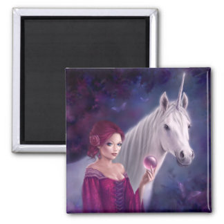 The Mystic Unicorn Art Magnet