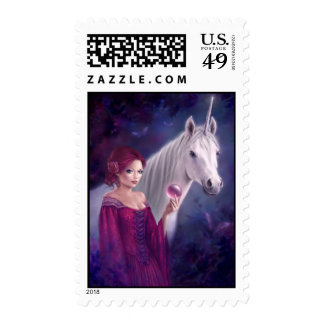 The Mystic Unicorn Art Postage