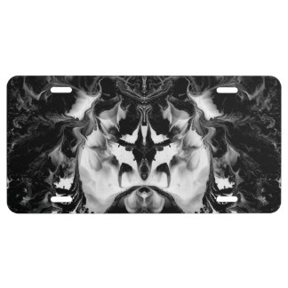 THE MYSTIC WAY (black & white art) ~ ~ ~ ~ License Plate