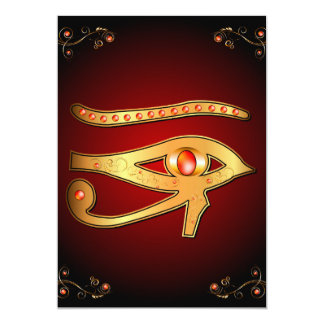 The mystical all seeing eye card