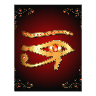 The mystical all seeing eye letterhead template