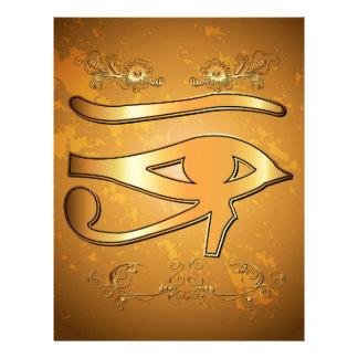The mystical all seeing eye letterhead design