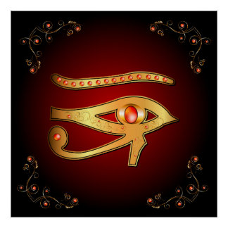 The mystical all seeing eye poster