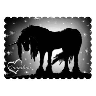 The Mystical Black Unicorn (Hazy Moon) Card