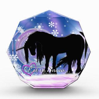 The Mystical Black Unicorn (Let It Snow) Acrylic Award