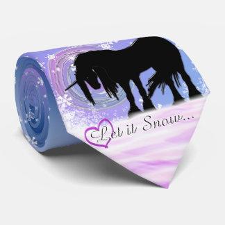 The Mystical Black Unicorn (Let It Snow) Tie