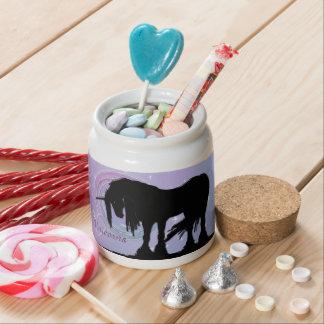 The Mystical Black Unicorn (Pastel Swirl) Candy Dishes