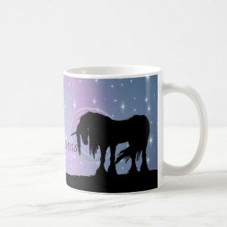 The Mystical Black Unicorn (Pastel Swirl) Coffee Mug