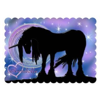 The Mystical Black Unicorn (Purple/Blue Blur) Card